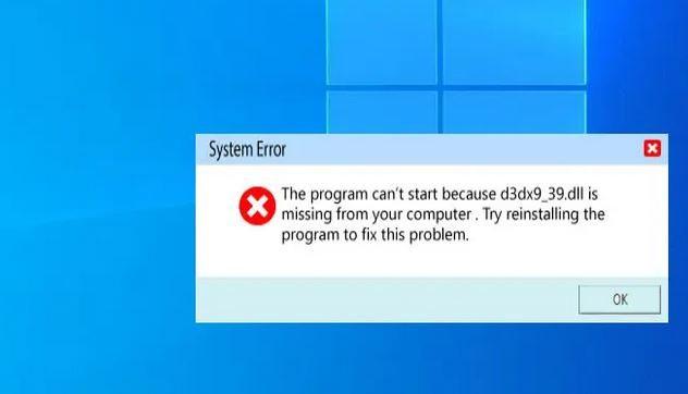 Solusi Terbaik untuk Memperbaiki Error d3dx9_39.dll is Missing