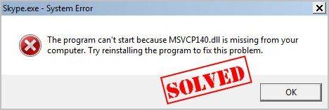 MSVCP140.dll Missing? Begini cara memperbaikinya